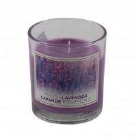 Lumanare pahar AB9977, violet, aroma lavanda, 80 / 72 mm