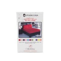 Husa (saltea/pat) cu elastic, crem, bumbac 100%, 160x200 cm + 2 fete perna 50x70 cm