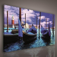 Tablou PP12501, peisaj marin, canvas, 75 x 100 cm