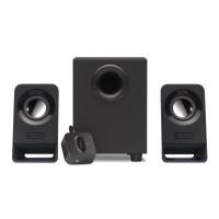 Sistem audio Logitech Z213, configuratie 2.1 (subwoofer + 2 sateliti), 7 W, jack 3.5 mm, negru, telecomanda