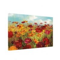 Tablou C00279, compozitie cu flori, canvas + sasiu brad, 50 x 80 cm