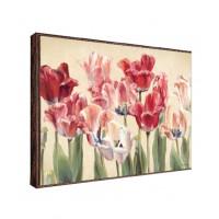 Tablou Canbox, flori, canvas + rama MDF, 50 x 70 cm