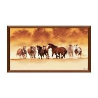 Tablou C01529, Cai, canvas + rama MDF, 50 x 100 cm