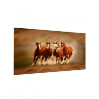 Tablou C01532, Cai, canvas + sasiu brad, 50 x 100 cm