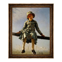 Tablou, portret, canvas + rama MDF, 40 x 50 cm