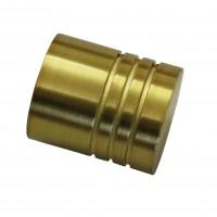 Cap galerie Chicago, cilindru, 20 mm, auriu mat 31495