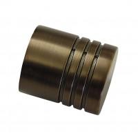 Cap galerie Chicago, cilindru, 20 mm, bronz 31380