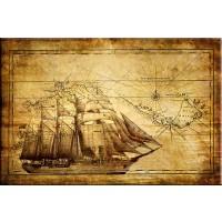 Tablou dualview DTB4540, Harta de navigatie, canvas, 60 x 90 cm