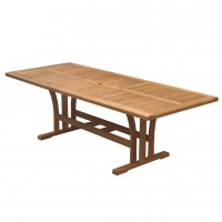 Masa extensibila pentru gradina, TDT 2506, lemn eucalipt, dreptunghiulara, 12 persoane, 180 / 240 x 100 x 75 cm