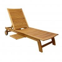 Sezlong plaja TDC 2505SB spatar pliabil structura lemn natur 197 x 64 x 32.5 cm