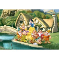 Fototapet copii duplex Disney Alba ca zapada 596P4 254 x 184 cm