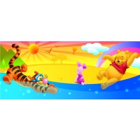 Fototapet copii duplex Disney Winnie the pooh 2-001D 254 x 92 cm