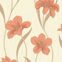 Tapet hartie, model floral, Grandeco Villa Moura BOA-013-03-6, 10.05 x 0.53 m