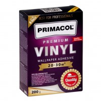 Adeziv pentru tapet vinil / fibra de sticla, interior, Primacol Premium, 200 g