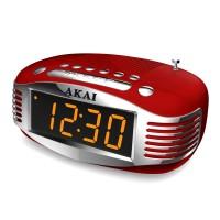 Radio FM / AM Akai CE-1500, cu ceas, alimentare retea, Aux in, functie alarma cu radio sau buzzer, functie Snooze, antena telescopica