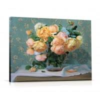 Tablou, compozitie cu flori, canvas + rama MDF, 60 x 80 cm
