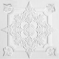 Tavan fals decorativ, polistiren extrudat, C2056, clasic, alb, 50 x 50 x 0.3 cm