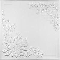 Tavan fals decorativ din polistiren C2068 clasic alb 50 x 50 x 0.3 cm