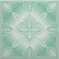 Tavan fals decorativ din polistiren C3004 clasic verde 50 x 50 x 0.3 cm