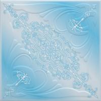 Tavan fals decorativ, polistiren extrudat, C3005, clasic, albastru, 50 x 50 x 0.3 cm