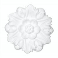 Rozeta din polistiren, C302, baroc, alb, 19 x 2 cm