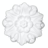 Rozeta din polistiren expandat, C302, baroc, alb, 19 x 2 cm