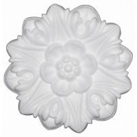 Rozeta din polistiren C302 baroc alb 19 x 2 cm