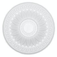 Rozeta din polistiren expandat, C303, baroc, alb, 38 x 2 cm