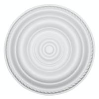 Rozeta din polistiren expandat, C307, baroc, alb, 30 x 1 cm