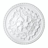 Rozeta din polistiren expandat, C309, baroc, alb, 42 x 2 cm