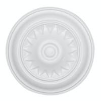 Rozeta din polistiren expandat, C311, baroc, alb, 18 x 1 cm