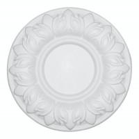Rozeta din polistiren expandat, C312, baroc, alb, 25 x 1 cm