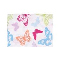 Cearceaf pilota 2 persoane Studio Casa Butterfly, bumbac, 180 x 200 cm, multicolor