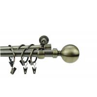 Galerie dubla metal alama antic 19 + 16 mm / 240 cm + accesorii DEGZR-15138A