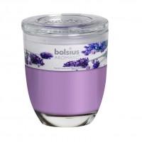Lumanare pahar NKP0377, violet, aroma lavanda, 70 x 80 mm