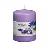 Lumanare decorativa NKS0177X80, tip stalp, lila, aroma lavanda, 80 / 60 mm