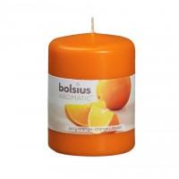 Lumanare decorativa NKS0184X80, tip stalp, portocaliu, aroma portocala, 80 / 60 mm