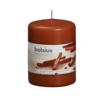 Lumanare decorativa NKS0187, tip stalp, maro, aroma scortisoara, 80 / 60 mm