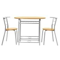 Set masa ovala fixa cu 2 scaune DS25090, bucatarie, fag, 1C