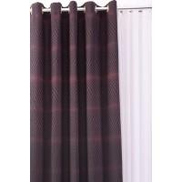 Draperie ZS1013, poliester, rosu + negru, H 280 cm