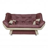 Canapea extensibila 3 locuri Lale, mov + crem, 182 x 95 x 95 cm, 1C