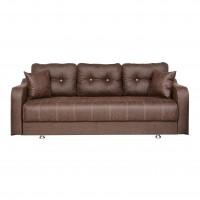 Canapea extensibila 3 locuri Ultra, cu lada, maro inchis, 222 x 105 x 75 cm, 1C
