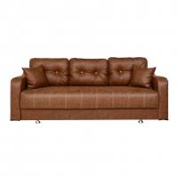 Canapea extensibila 3 locuri Ultra, cu lada, maro deschis, 222 x 105 x 75 cm, 1C