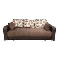 Canapea extensibila 3 locuri Ultra, cu lada, maro deschis + wenge, 222 x 105 x 75 cm, 1C