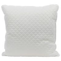 Perna pentru dormit matlasata micro poliester microfibra soft touch + puf siliconizat alb 70 x 70 cm