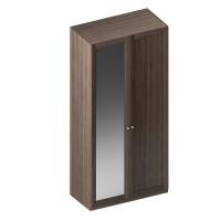 Dulap dormitor Stefan DS2, furnir diverse culori, 2 usi, cu oglinda, 105.5 x 55 x 225 cm, 2C
