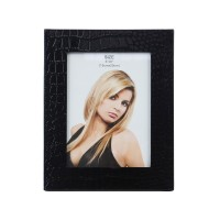 Rama foto, D92, piele ecologica, neagra, 15 x 20 cm