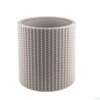 Ghiveci din plastic cu finisaj ratan sintetic Curver, pentru exterior, gri D 36 cm
