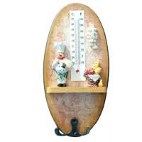 Cuier decorativ D52, pentru bucatarie, cu 1 agatatoare si termometru