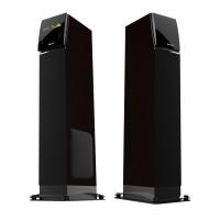 Sistem audio Akai SS027A-KING, 2 boxe active, 100 W, Bluetooth, USB, SD card, maro + negru, telecomanda
